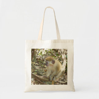 Green Monkey Tote Bag