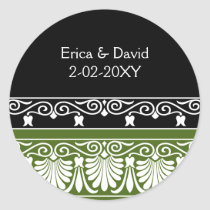 green Monogram label