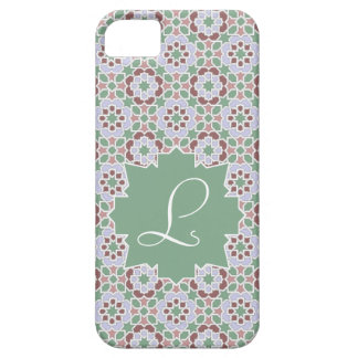 Green Monograma clearly with tile mosaic 7 iPhone SE/5/5s Case