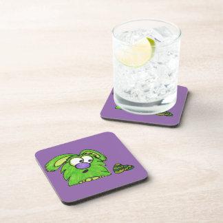 Green monster beverage coaster