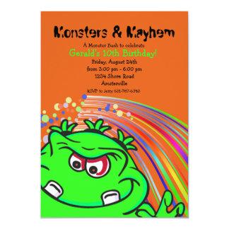 Green Monster Birthday Party Invitation