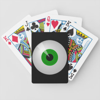 Green Monster Cartoon Eye Eyeball Poker Cards