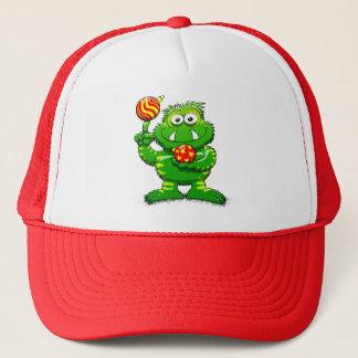 Green Monster Celebrating Christmas Trucker Hat