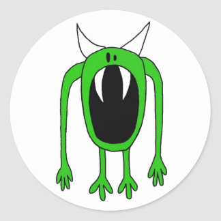 Green Monster Classic Round Sticker