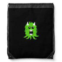 Green Monster Drawstring Backpack