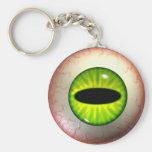 Green Monster Eye-Ball Keyring Keychain