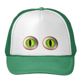 Green Monster Eyeballs Caps Mesh Hats