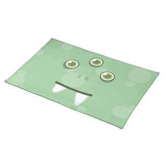 Green Monster Face Placemat