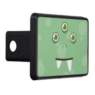 Green Monster Face Trailer Hitch Cover
