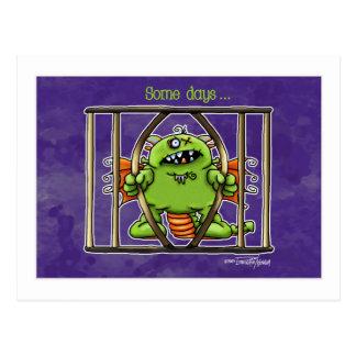 Green Monster Halloween card