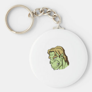green monster head keychain