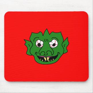 Green Monster Head Mousepads