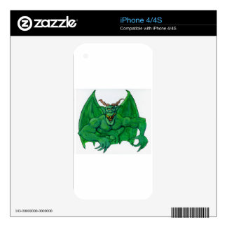 Green Monster iPhone 4S Skins