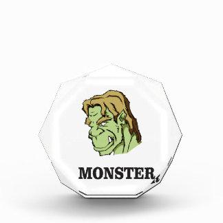 green monster man acrylic award