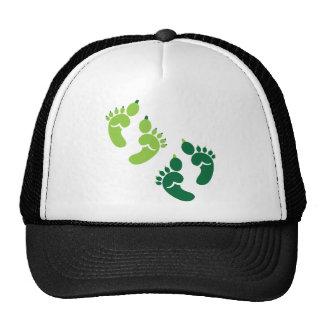 Green monster OGRE feet Hats
