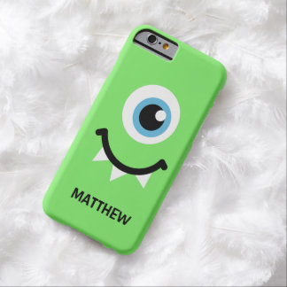 Green monster personalized name barely there iPhone 6 case