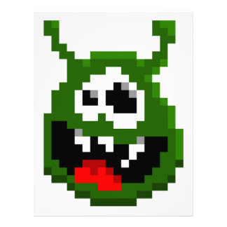Green Monster - Pixel Art Letterhead