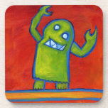 Green Monster Robot coasters
