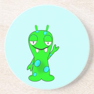 Green Monster Sandstone Coaster