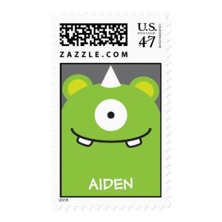 Green Monster Stamp