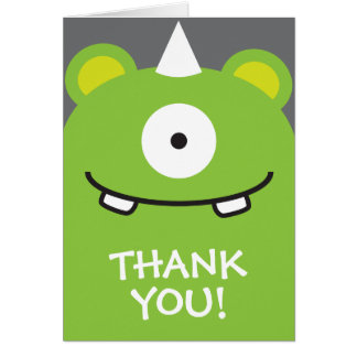 Green Monster Thank You Card