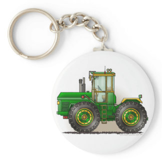 Green Monster Tractor Key Chains