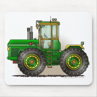 Green Monster Tractor Mouse Pads