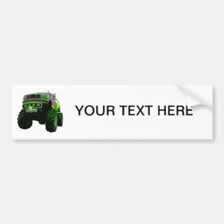 Green Monster Truck Bumper Sticker