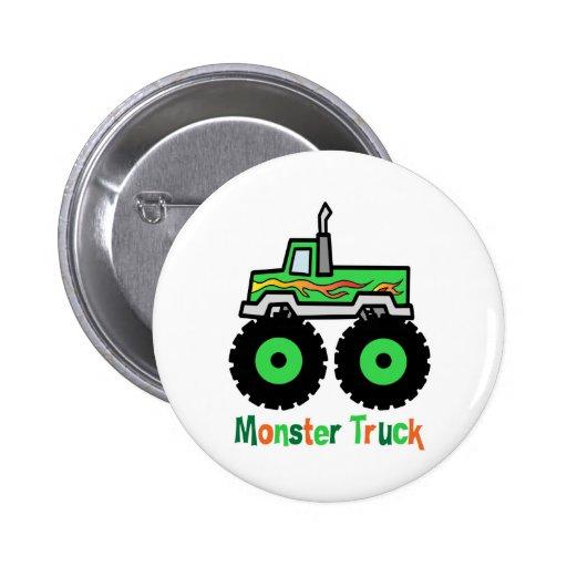 Green Monster Truck Button