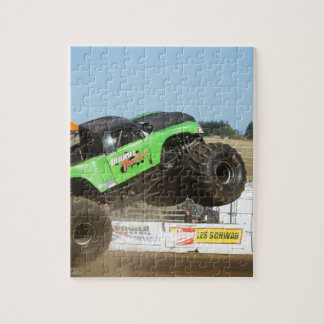 Green Monster Truck In Action Jigsaw Puzzle