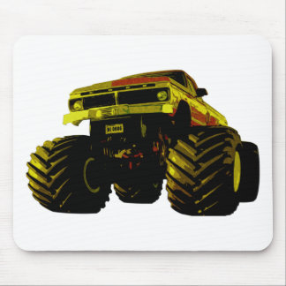 Green Monster Truck Mouse Pad
