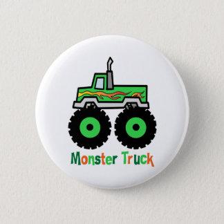Green Monster Truck Pinback Button