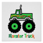 Green Monster Truck Poster