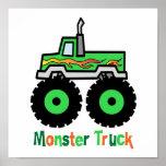 Green Monster Truck Print