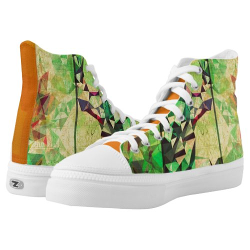 Green Monsters High Tops Men High_Top Sneakers