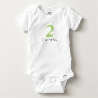 Green Monthly Baby Baby Onesie