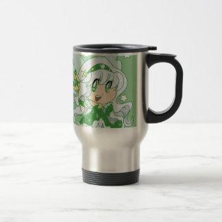 Green Moon Fairy Princess Travel Mug