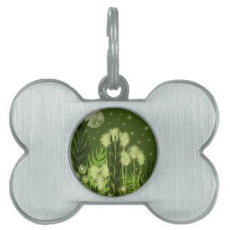 Green Moon Fantasy Art Pet Tag