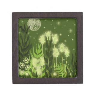 Green Moon Fantasy Art Premium Trinket Box