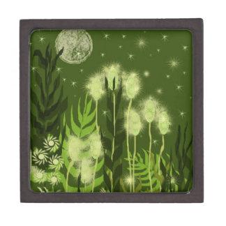 Green Moon Fantasy Art Premium Jewelry Boxes