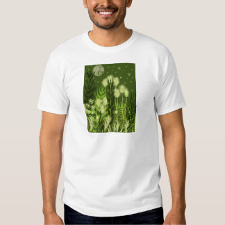 Green Moon Fantasy Art Shirt