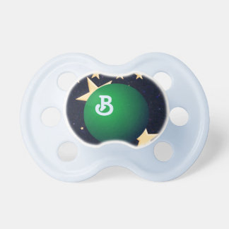 Green Moon & Gold Stars Pacifiers