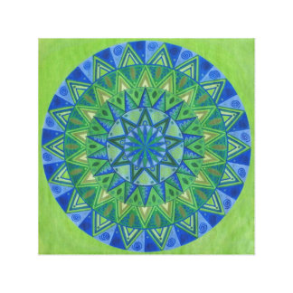 Green Moon Mandala Canvas Print