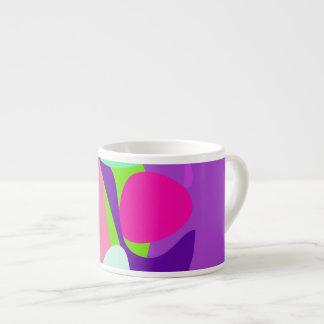 Green Moon Purple Background Espresso Cups