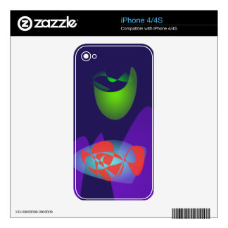 Green Moon Skins For iPhone 4