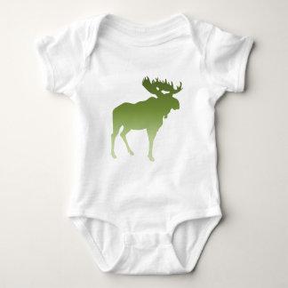 Green Moose Baby Bodysuit