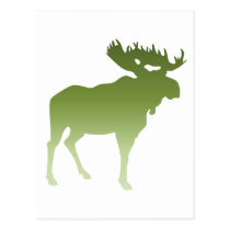 Green Moose Postcard