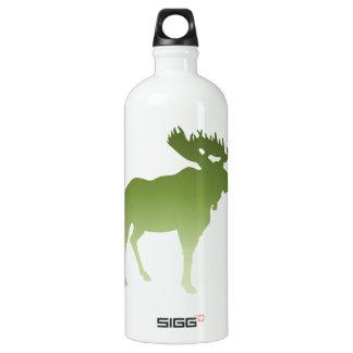 Green Moose Water Bottle