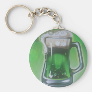 green more beer keychain