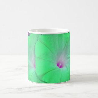 Green Morning Glory Duo mug